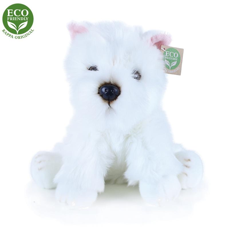 Plyšový pes westík sedící 30 cm ECO-FRIENDLY