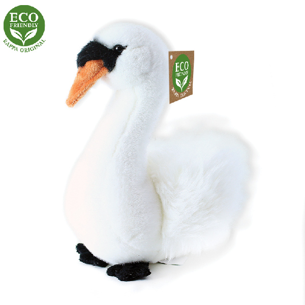 Plyšový pták labuť sedící 23cm ECO-FRIENDLY