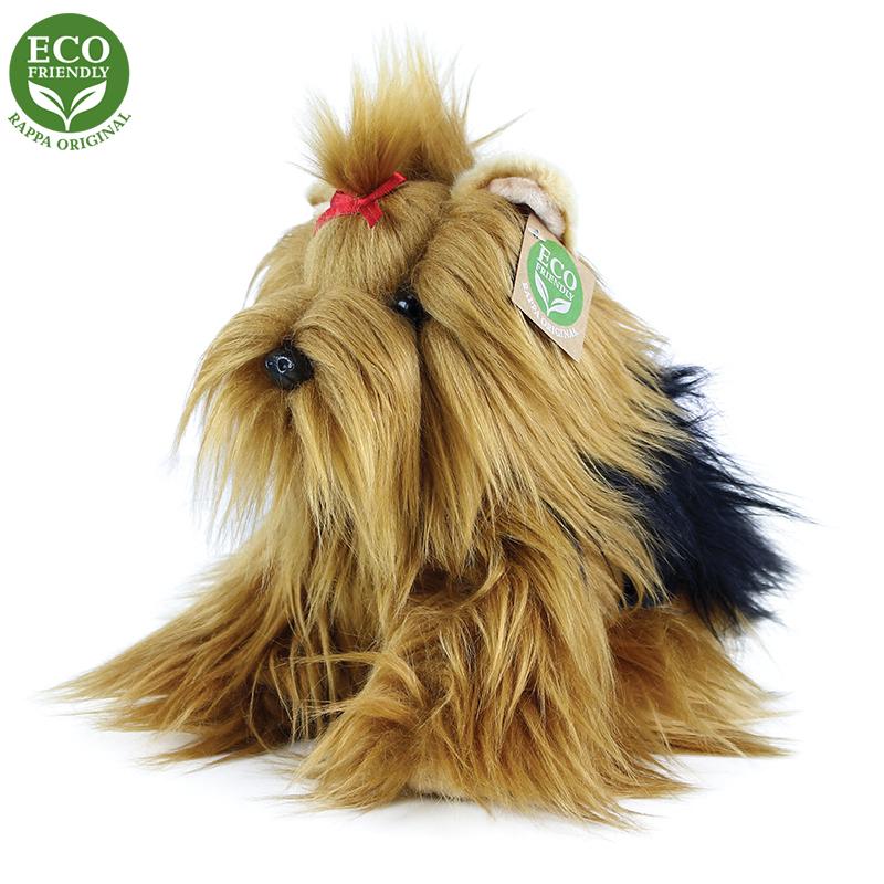 Plyšový pes Jorkšírský teriér sedící 23 cm ECO-FRI