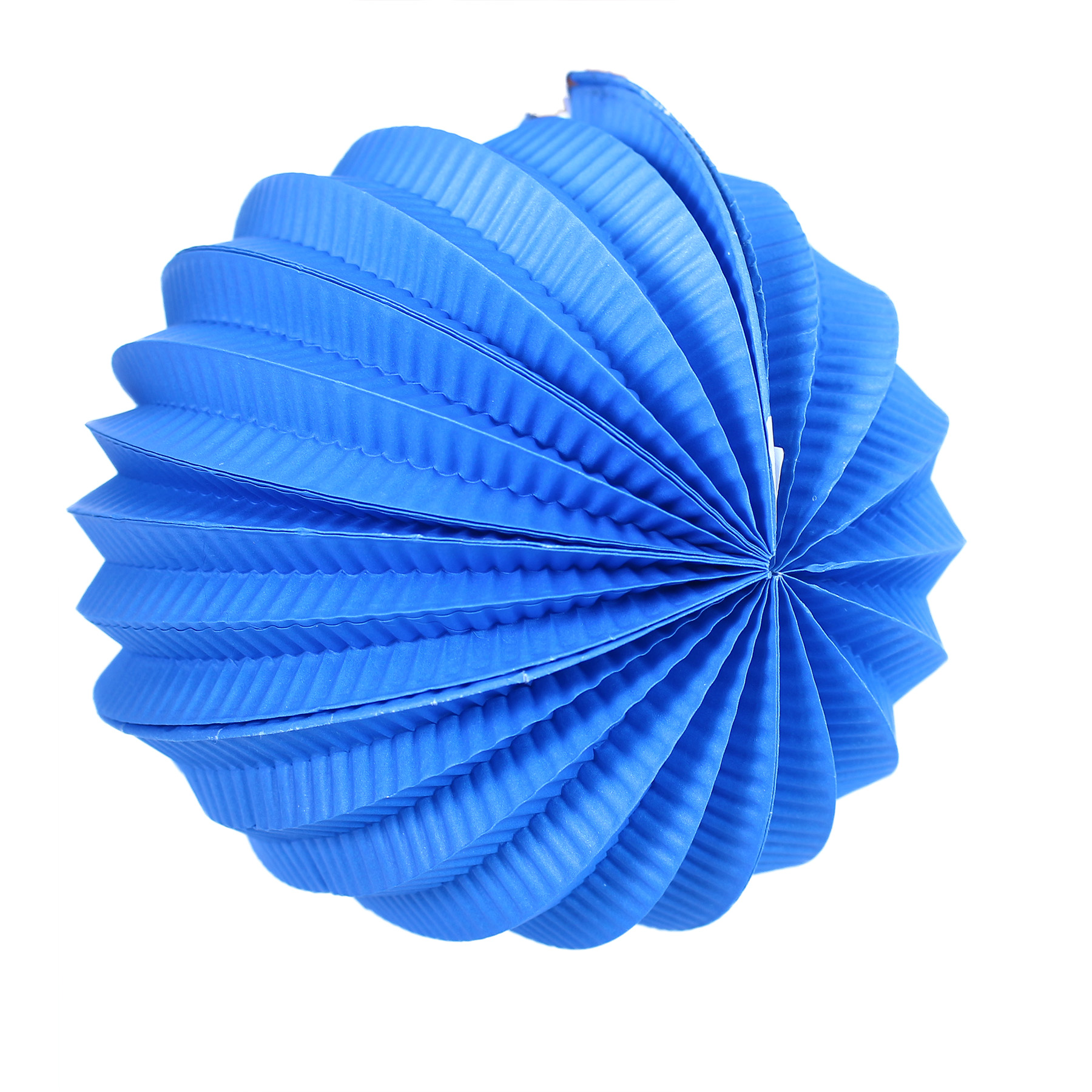 Lampion koule modrý 20 cm