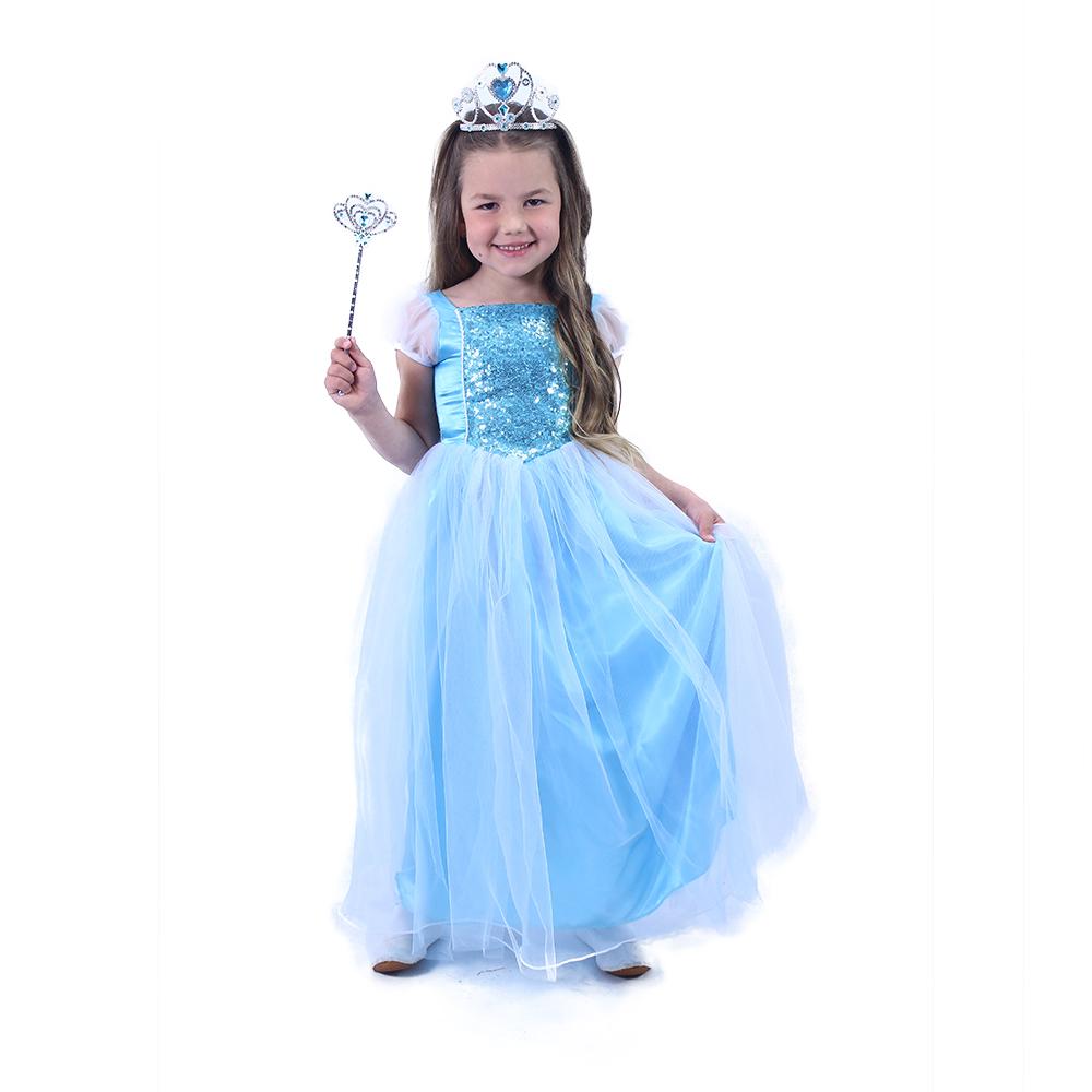 Dětský kostým modrá princezna (M)