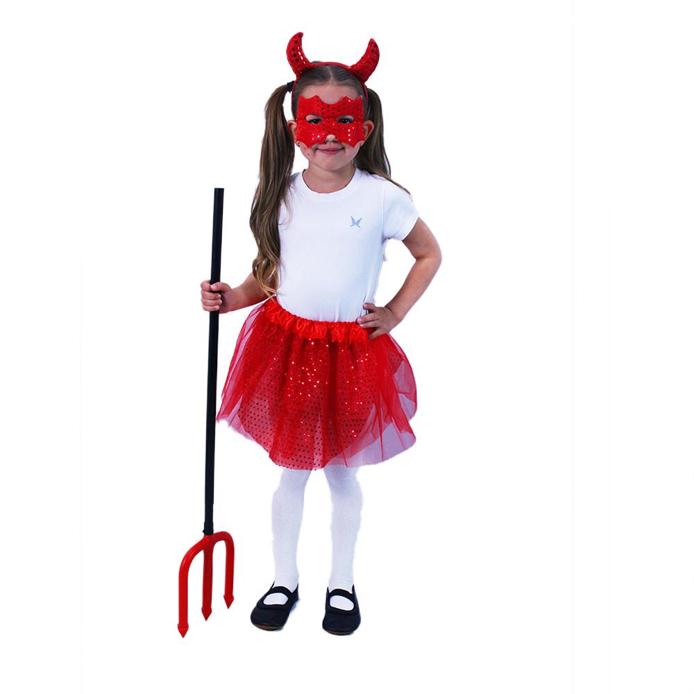 Dětský kostým tutu sukně čertice