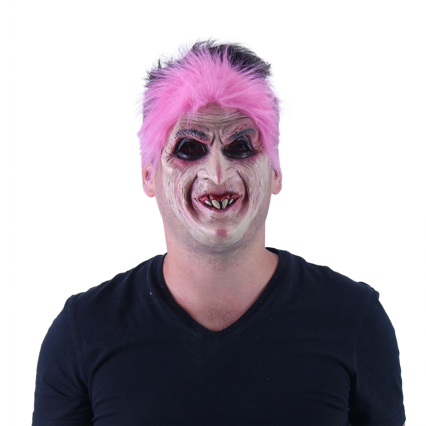 Maska pro dospělé růžová čarodějnice/Halloween