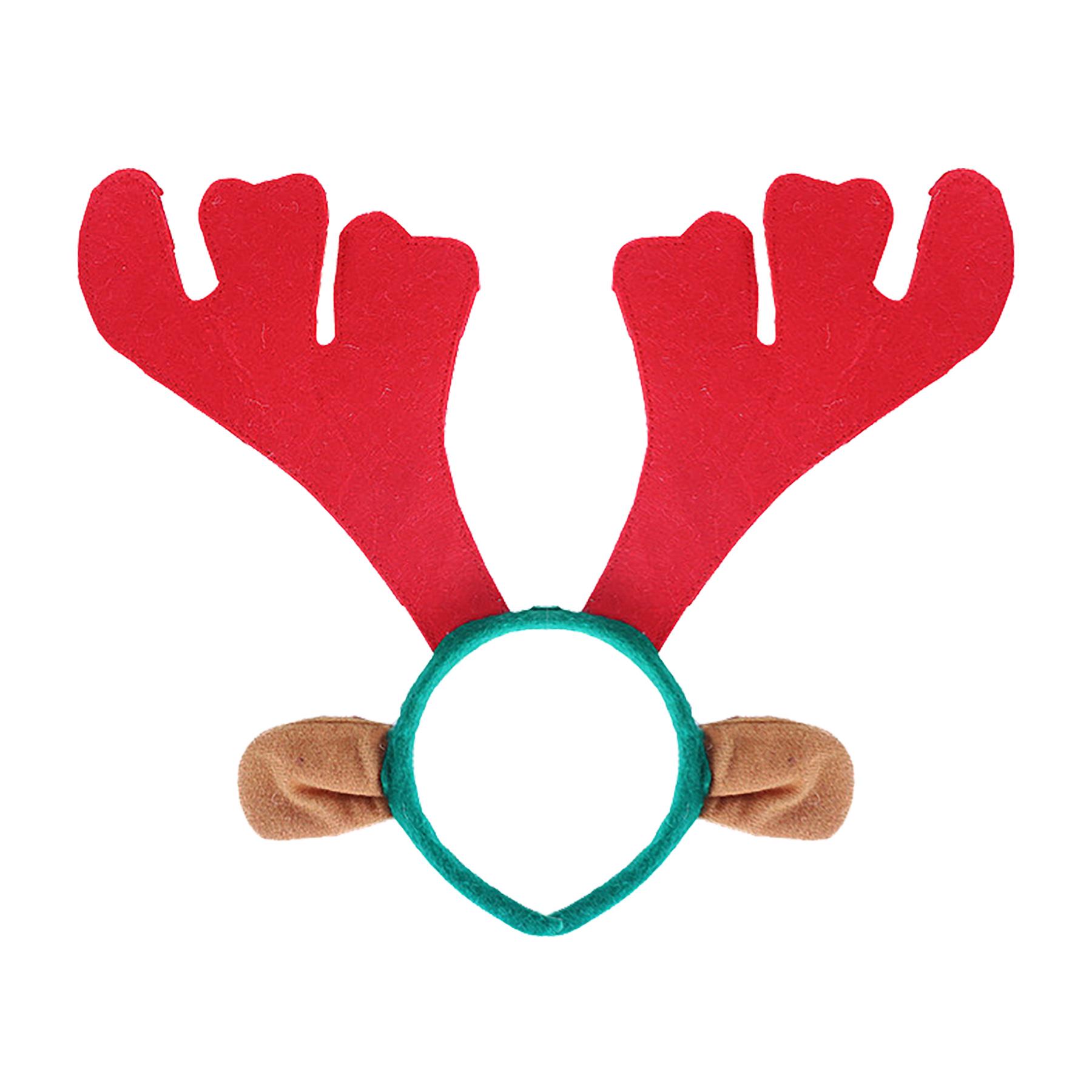 Vánoční čelenka sob s ušima