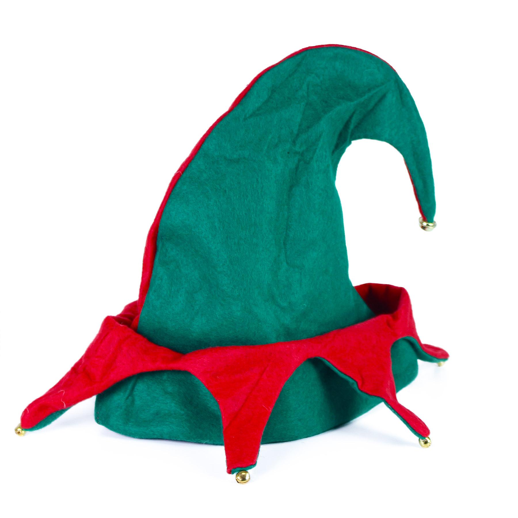 Vánoční čepice elf s rolničkami pro dospělé