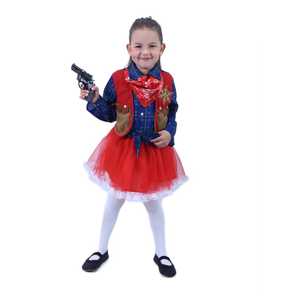 Dětský kostým kovbojka (M)
