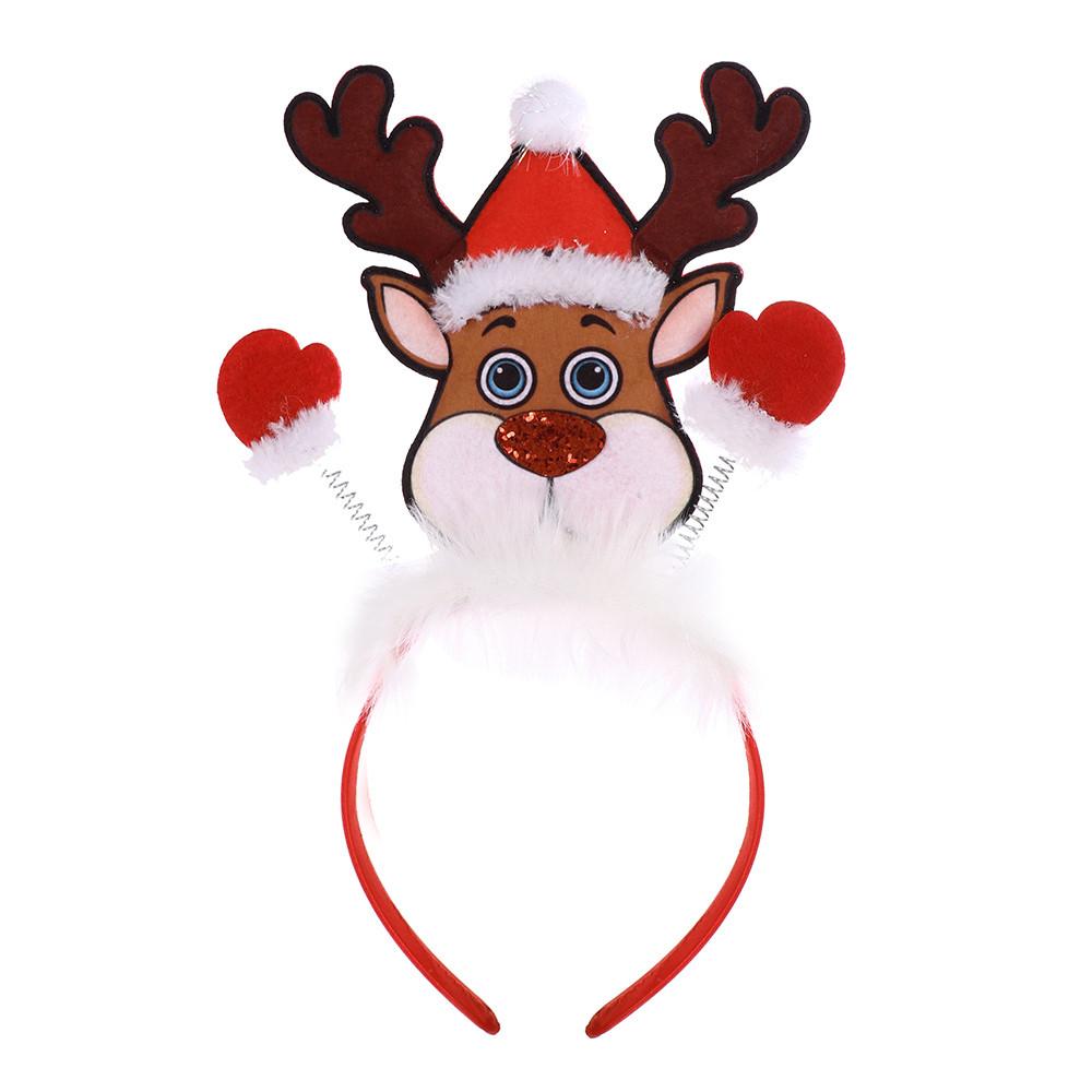 Vánoční čelenka sob pro děti