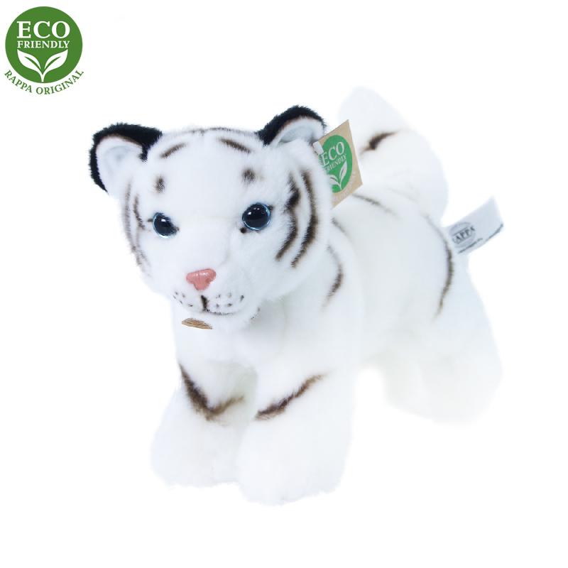 Plyšový tygr bílý mládě stojící s tvarovatelnými k