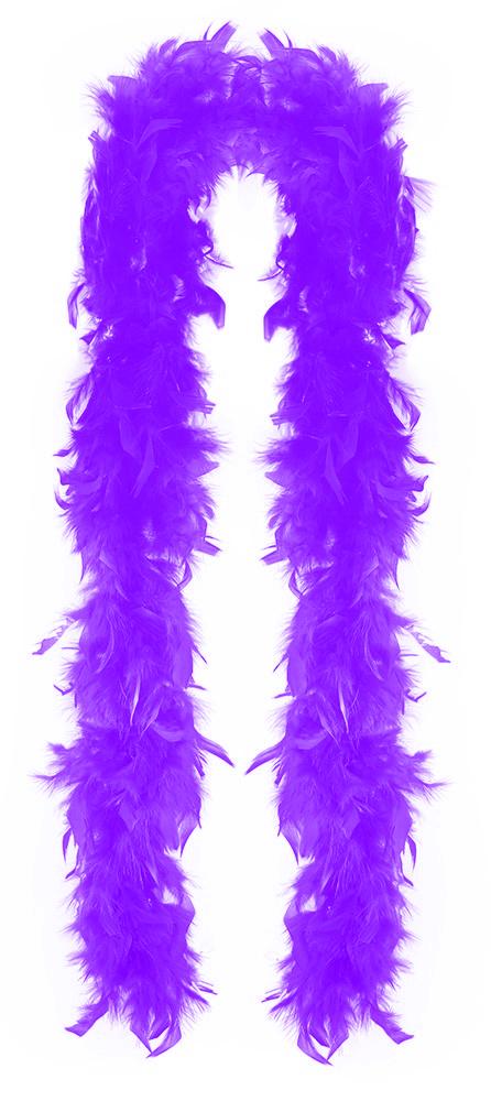 Boa fialové s peřím 180 cm