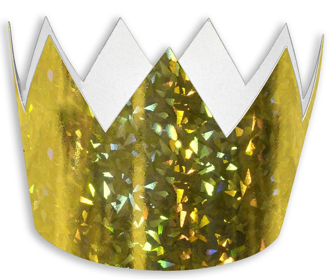 Korunka papírová zlatá 6 ks v sáčku