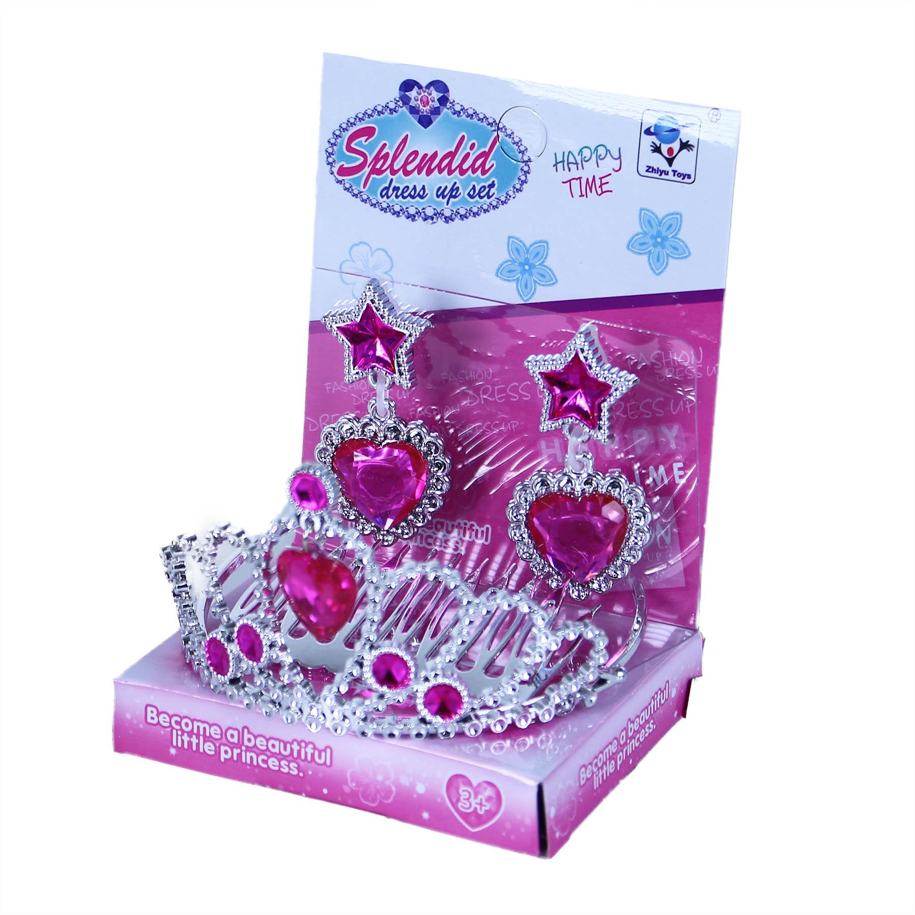 Korunka princezna s náušnicemi růžová