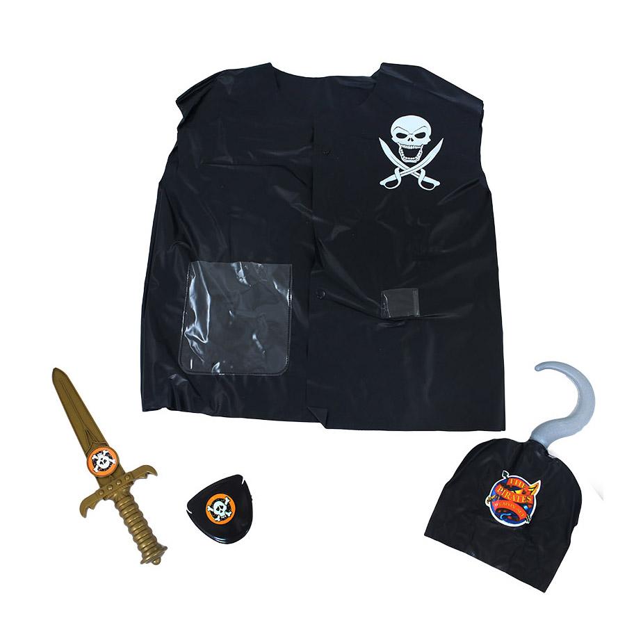 Dětská sada vesta pirátská s příslušenstvím