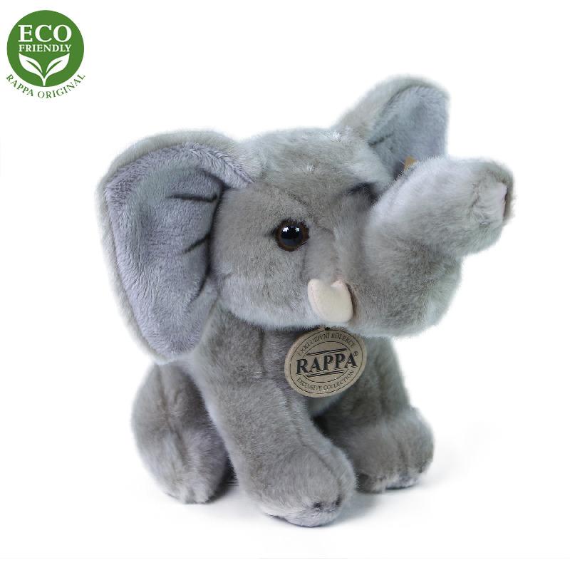 Plyšový slon sedící 18 cm ECO-FRIENDLY