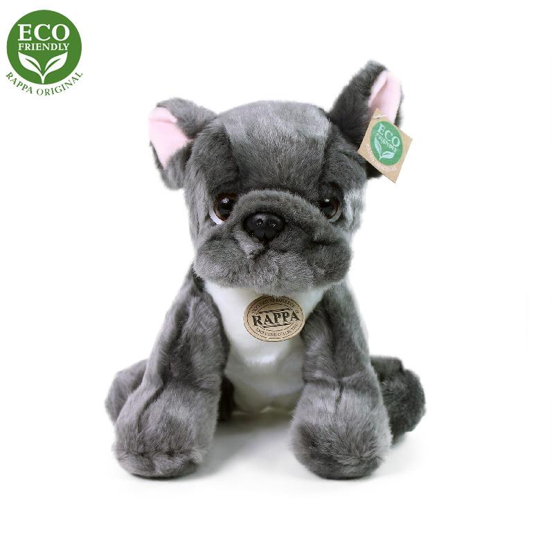 Plyšový pes francouzský buldoček sedící 26 cm ECO-