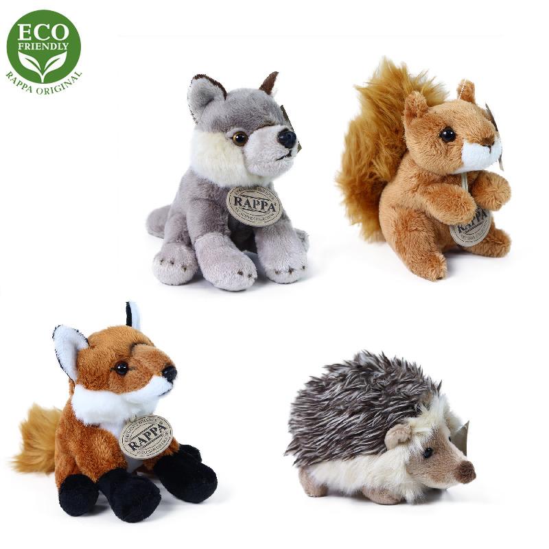 Plyšová zvířata lesní sedící 12 - 15 cm ECO-FRIEND