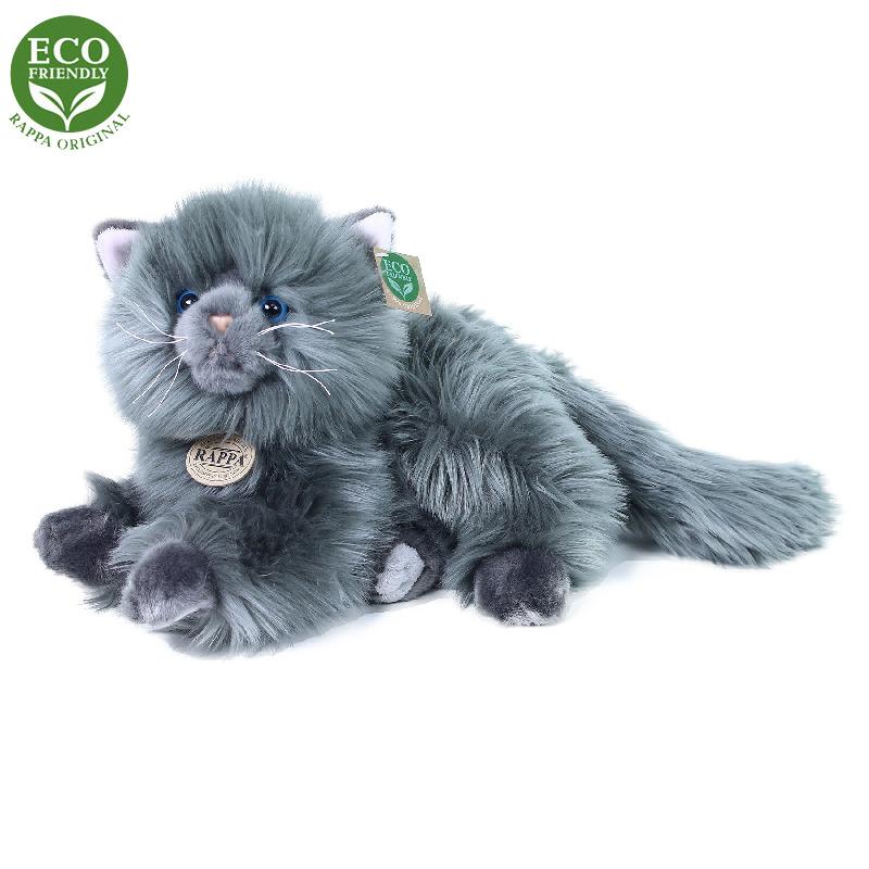 Plyšová perská kočka šedá ležící 30 cm ECO-FRIENDL