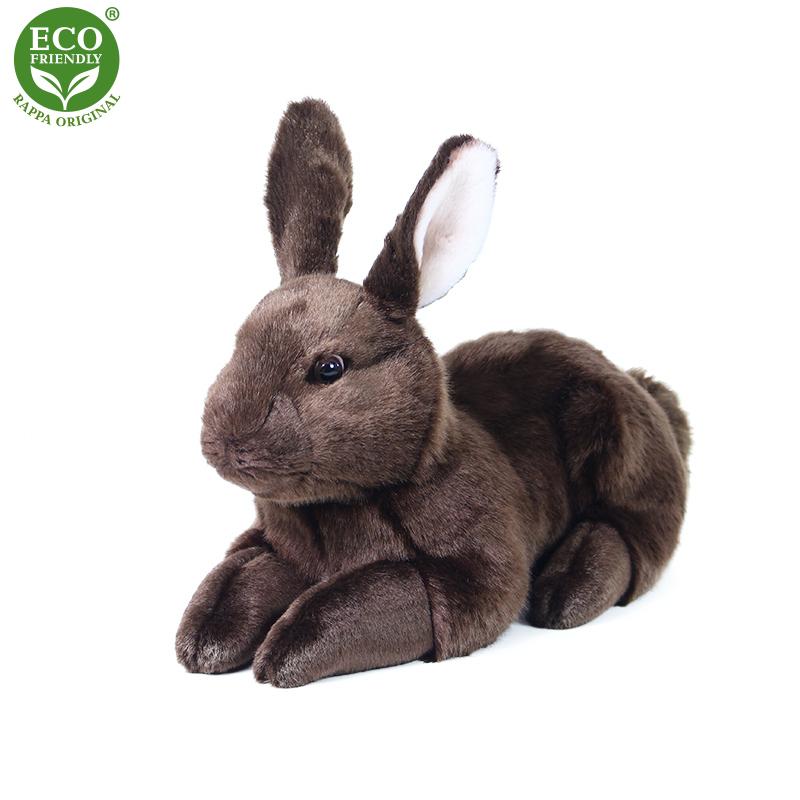 Plyšový králík hnědý ležící 36 cm ECO-FRIENDLY