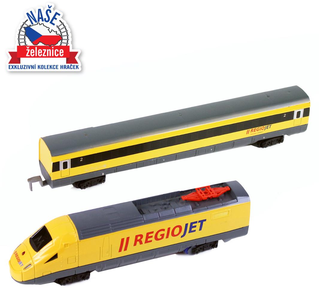Vlak RegioJet se zvukem a světlem