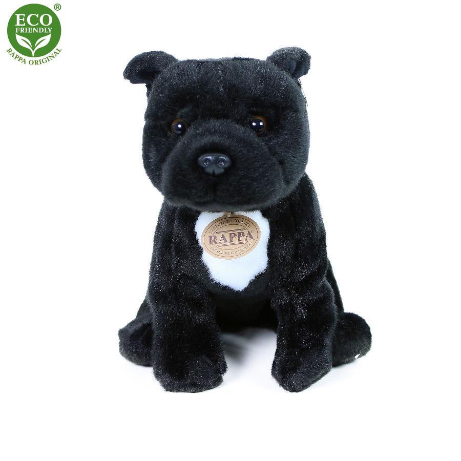 Plyšový pes stafordšírský bulteriér 30 cm černý EC