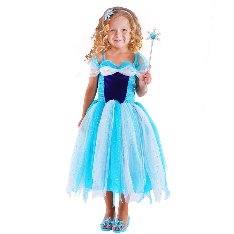 Dětský kostým princezna modrá (M)