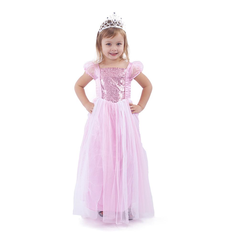 Dětský kostým růžová princezna (M)