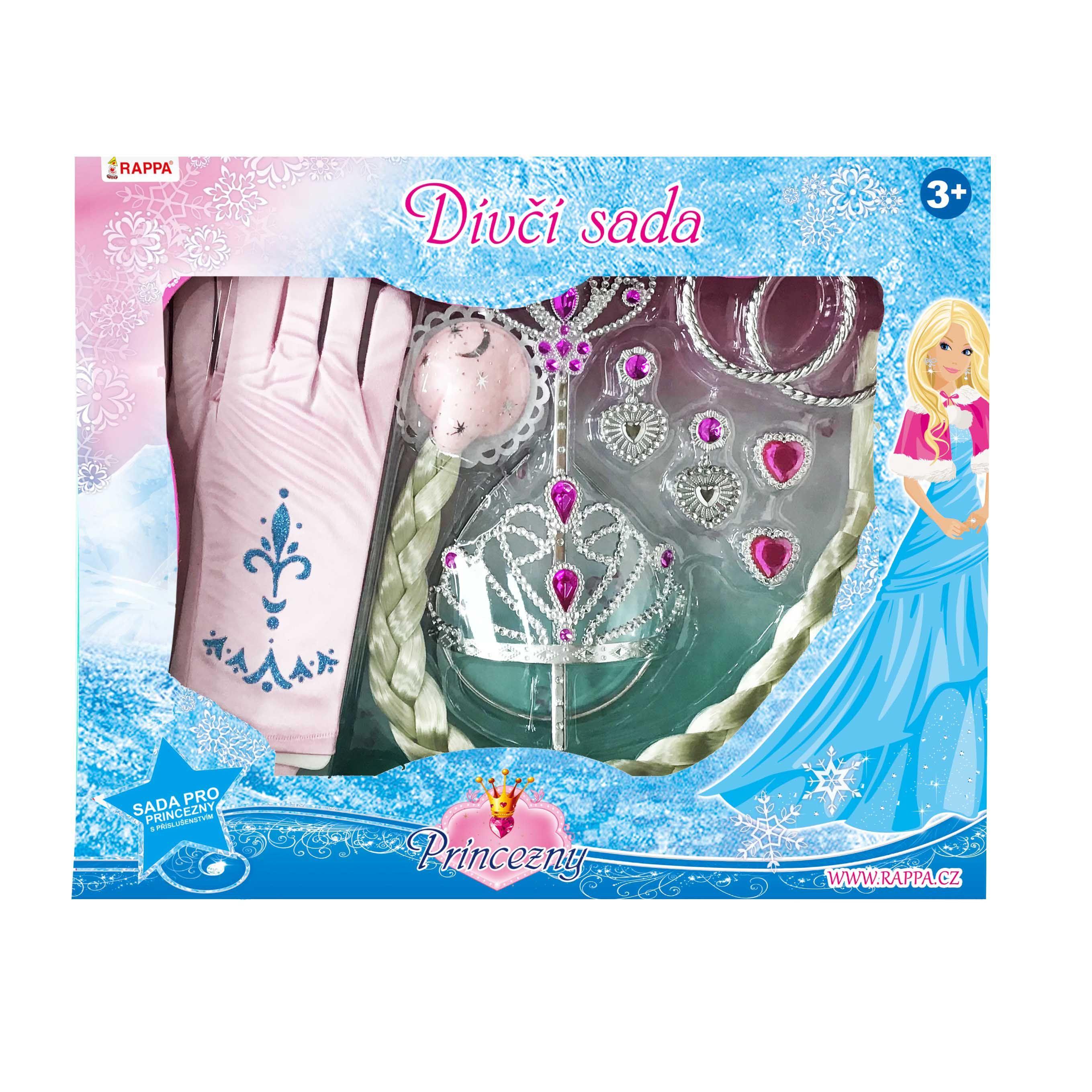 Sada princezna s rukavicemi růžová