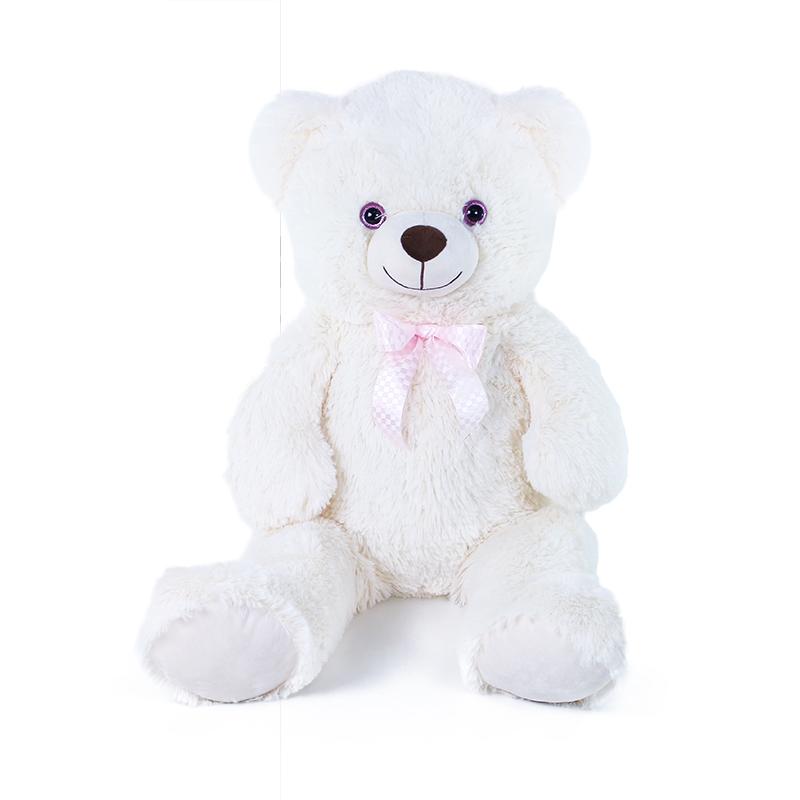 Velký plyšový medvěd Lily 78 cm krémově bílý s vis