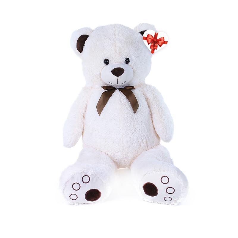 Velký plyšový medvěd Tonda 100 cm krémově bílý s v