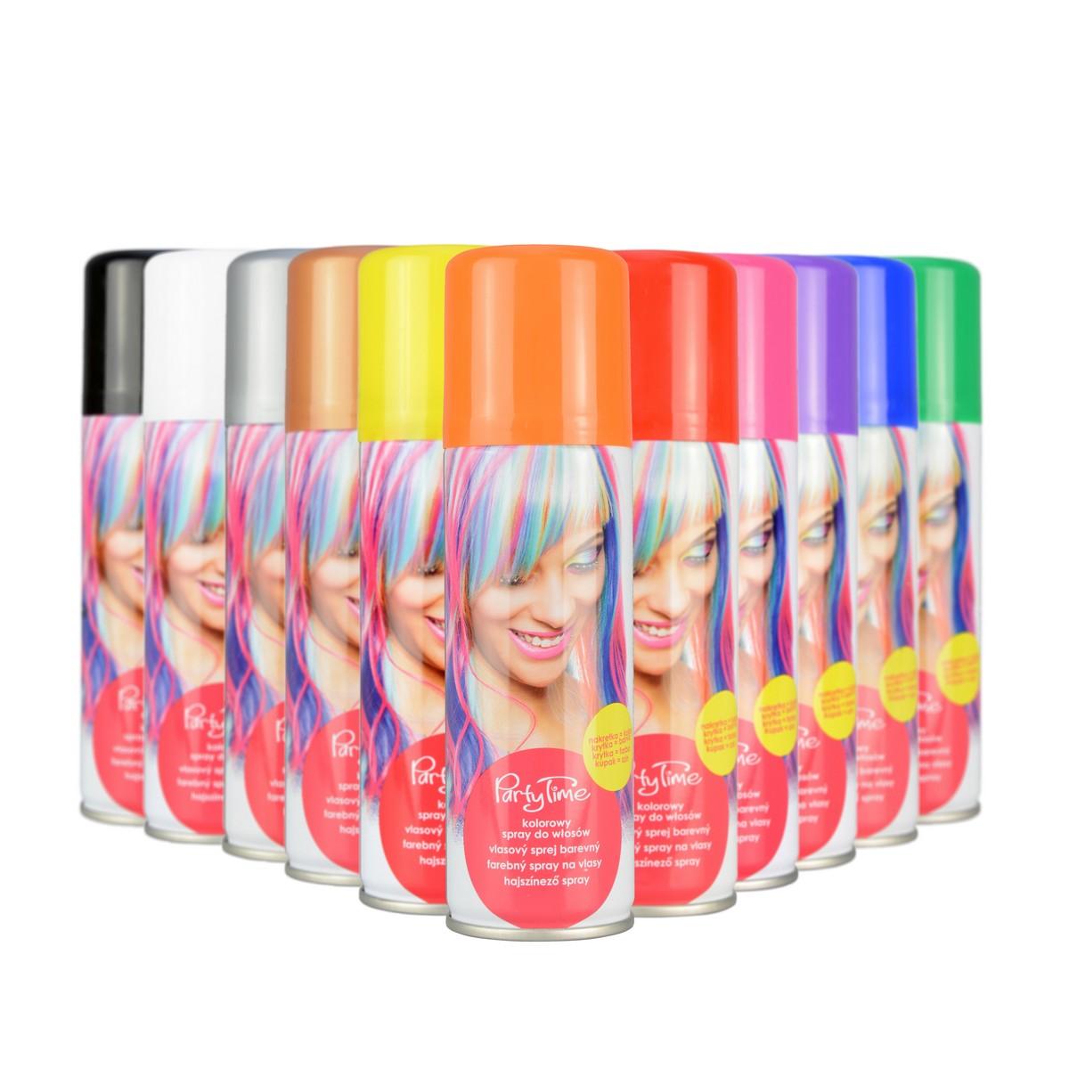 Sprej na vlasy barevný 6 barev