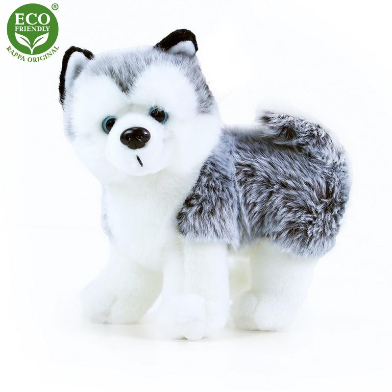 Plyšový pes husky stojící 22 cm ECO-FRIENDLY
