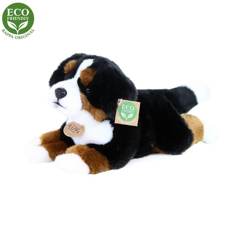 Plyšový bernský salašnický pes ležící 30 cm ECO-FR