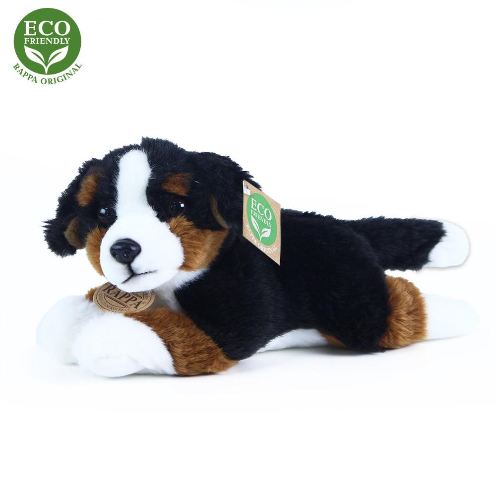 Plyšový bernský salašnický pes ležící 23 cm ECO-FR