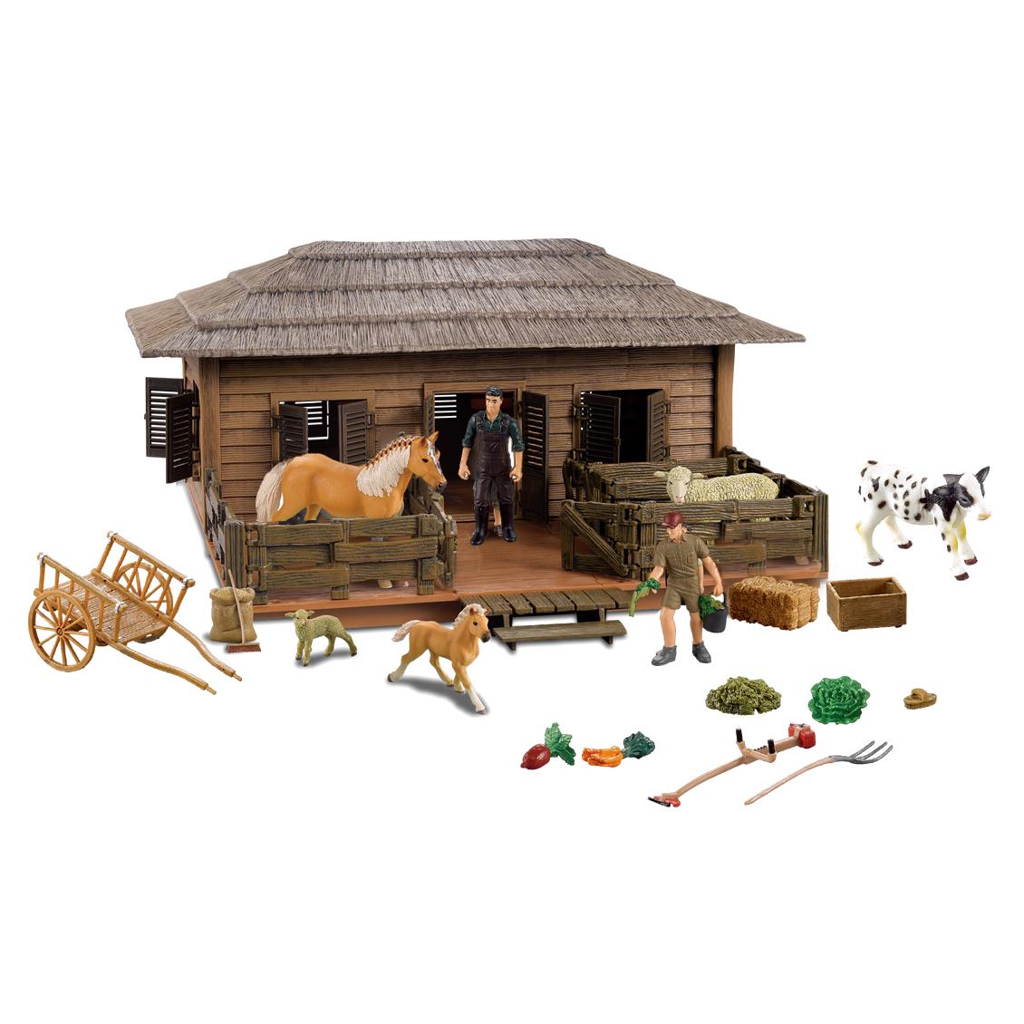 Stáj velký dům pro koně a ovce s příslušenstvím a