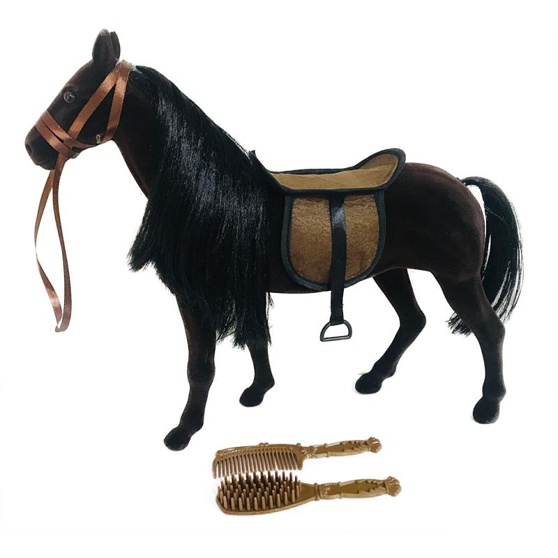 Kůň fliska tmavě hnědý velký s příslušenstvím