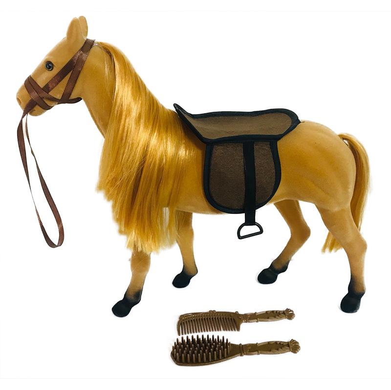 Kůň fliska hnědý velký s příslušenstvím