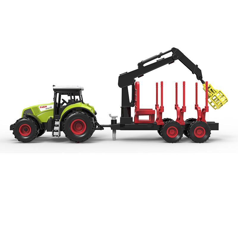 Traktor plastový se zvukem a světlem s vlečkou a c