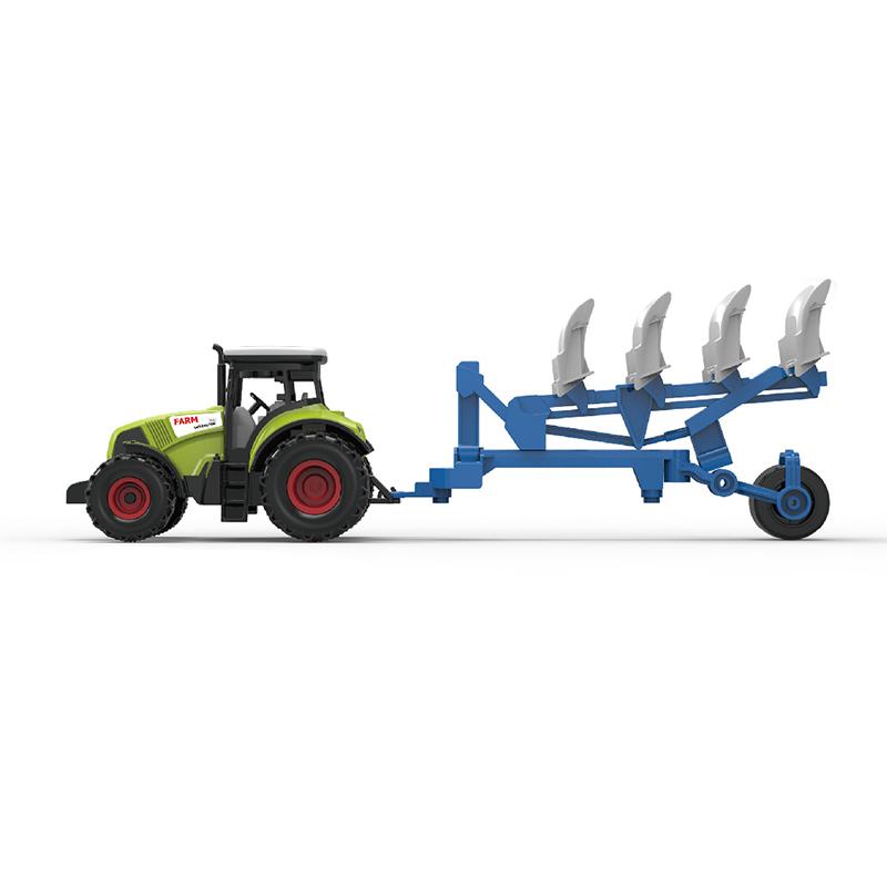 Traktor plastový se zvukem a světlem s vlečkou pro