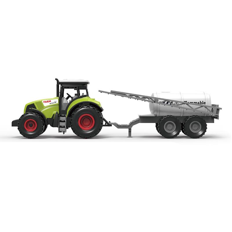 Traktor plastový se zvukem a světlem s vlečkou na