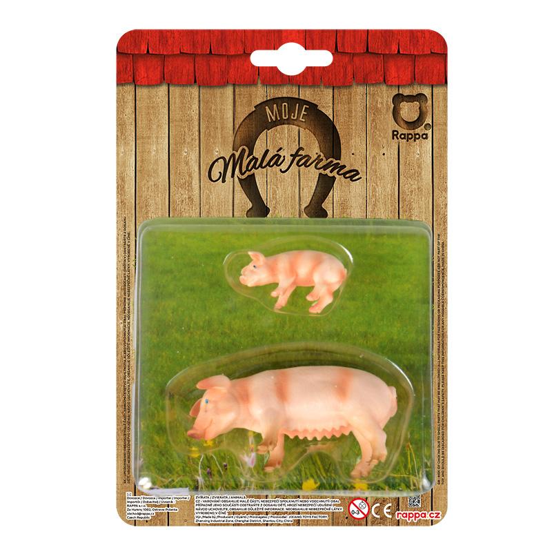 Zvířata na farmě 2 v 1 - prasata