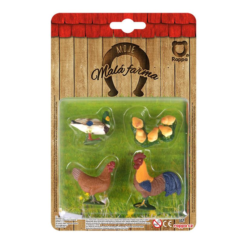 Zvířata na farmě 4 v 1 - drůbež
