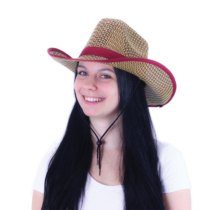 Klobouk kovboj léto pro dospělé