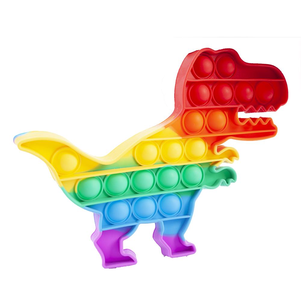POP IT dinosaurus duhový 20 bublin