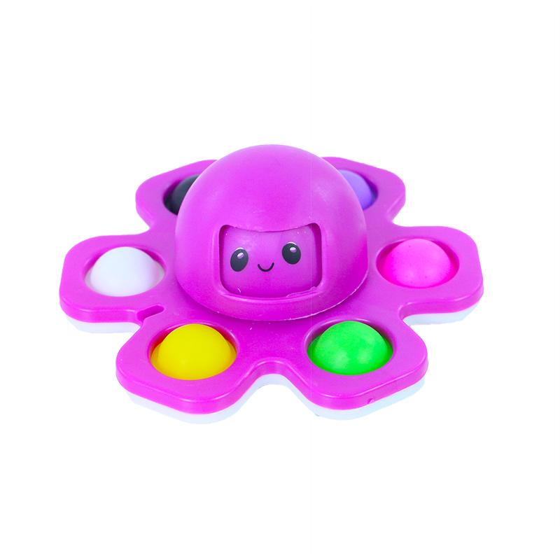 Pop it spinner chobotnice s měnící tváří