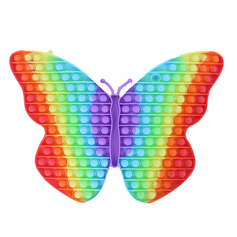 Pop it motýl Gigant duhový 190 bublin