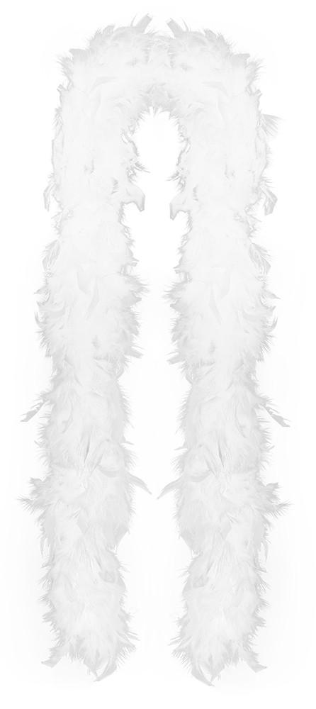 Boa bílé s peřím 180 cm