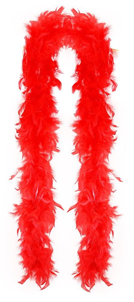 Boa červené s peřím 180 cm