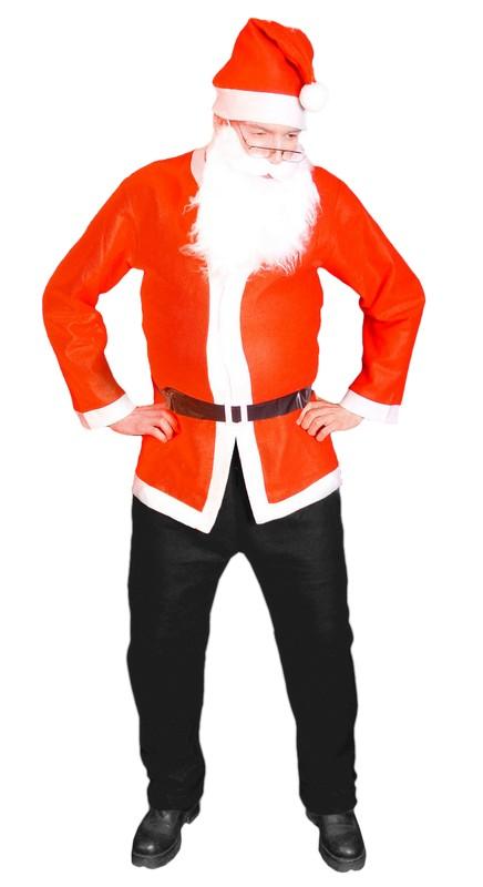 Kostým Santa Claus (bunda čepice vousy)
