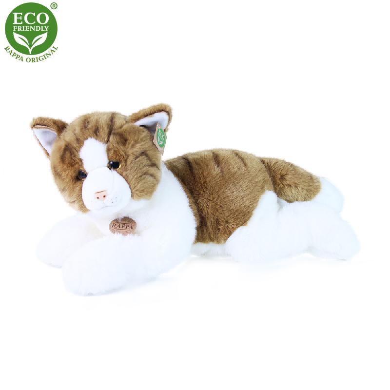 Plyšová kočka ležící 50 cm