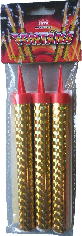 Fontána párty zlatá 40 sek 12 cm 3 ks