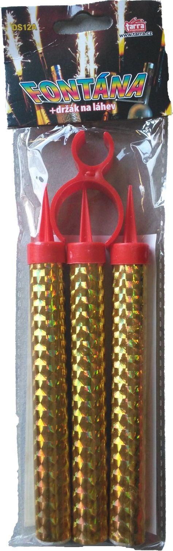 Fontána párty zlatá s držákem na láhev 40 sek 12 c